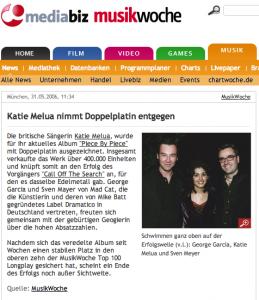 X Doppelplatin Katie Melua 2006