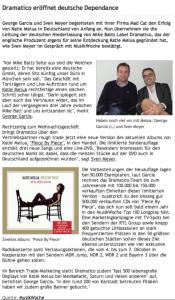 X Leitung der deutschen Niederlassung : Sven Meyer u. Goerge Garcia