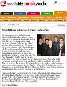 X Mike Batt release 2008